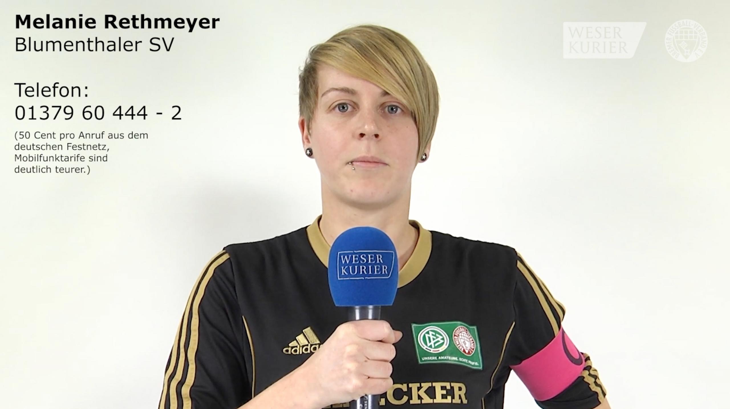 Aufruf Wahl Bremer Amateurfußballerin des Jahres Melanie Rethmeyer