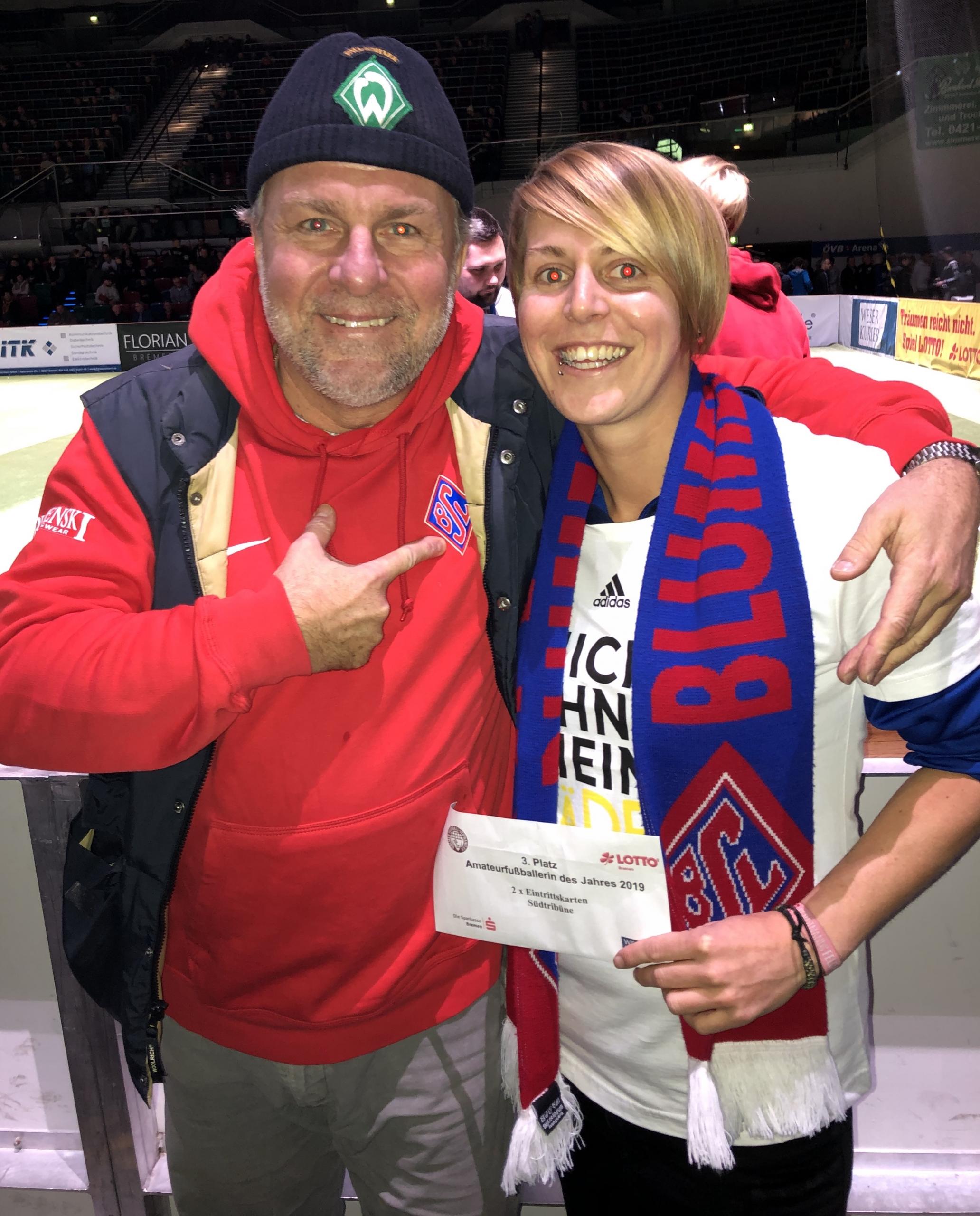 Melanie Rethmeyer Wahl Bremer Amateurfußballerin des Jahres 2019