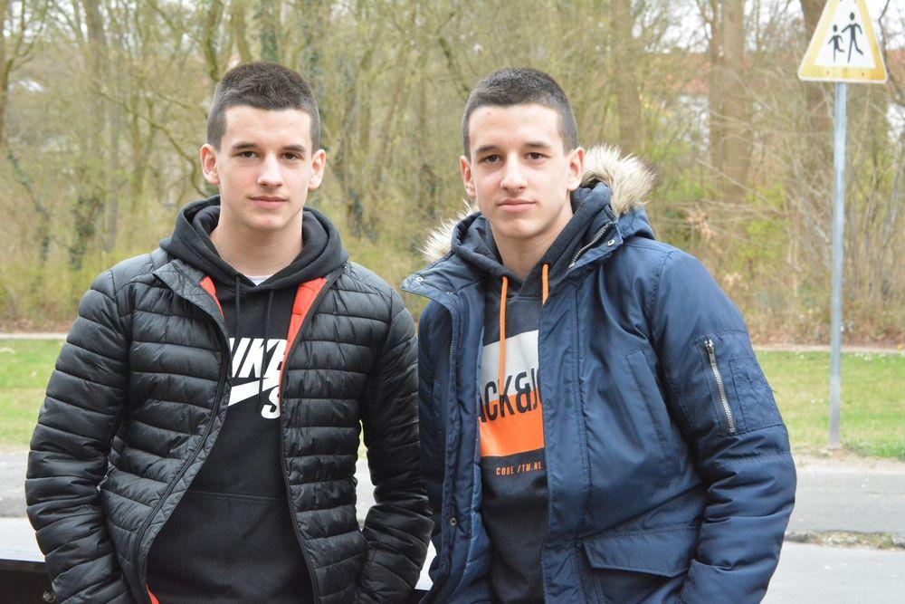 U15-Spieler Marsel und Patrik Zrnic