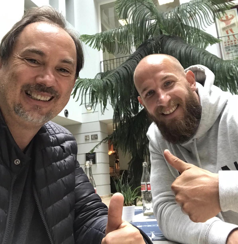 BSV-Trainer Isa Asuman und Neuzugang Ole Laabs